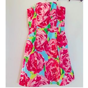 Hottie Pink First Impressions Blossom Dress, Lilly
